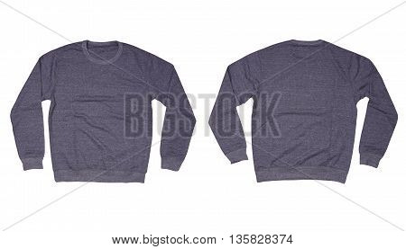Gray sweater isolated on a white background