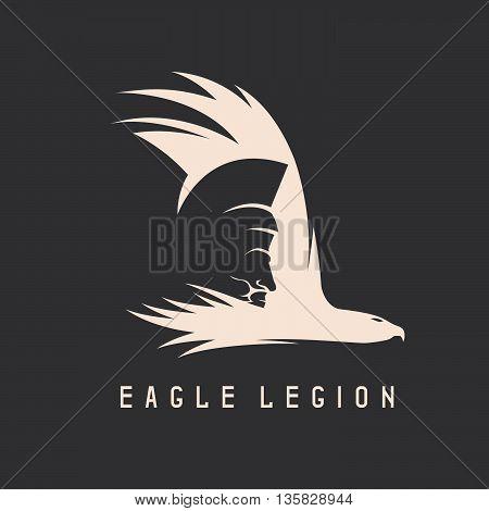 Negative Space Vector Concept Of Spartan Warrior Head In Eagle
