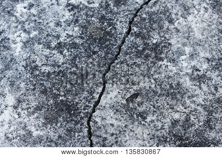 Crack concrete texture wall background. Rusty concrete surface background