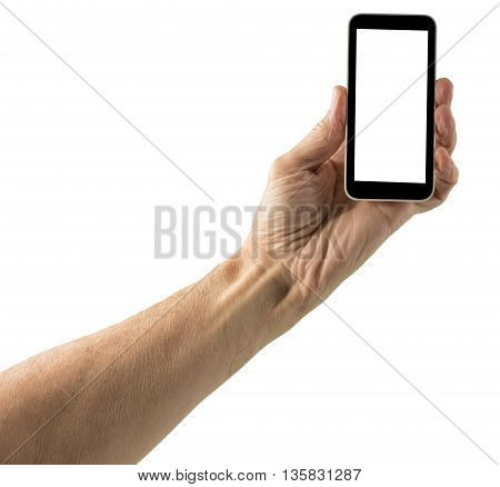 Isolated Image Of Hand With Smartphone Screen