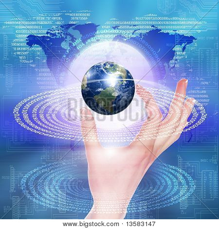 global technology illustration