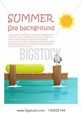 Enjoy tropical summer holiday background , vector, illustration