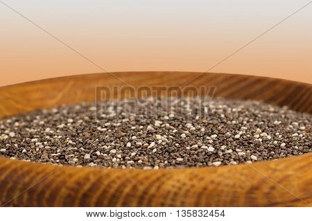 Сhia seeds. Super food. Nutritious and healthy seeds.