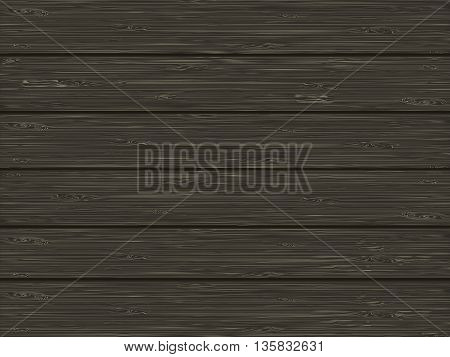 Natural wooden texture of dark brown color. vector illustration