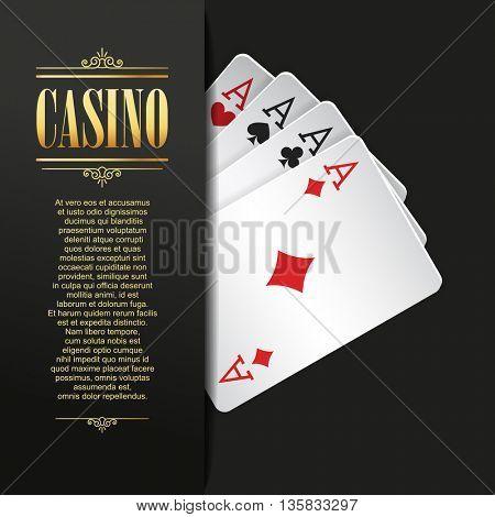 Casino background. Poker illustration.