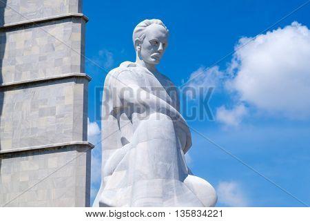 HAVANA,CUBA - JUNE 22,2016 : The Jose Marti memorial monument at the Revolution Square in Havana