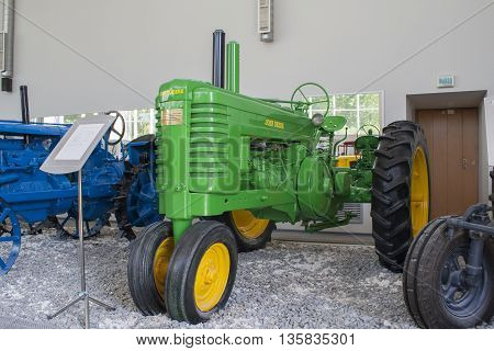 "Rare Tractor ""john Deere A"" Museum Of The City Of Tractors Cheboksary, Chuvash Republic, R"