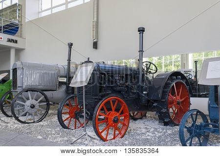 Rare tractor «McCormick-Deering 10-20» Museum of the City of tractors Cheboksary, Chuvash Republic, Russia. 06/05/2016