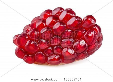 Close up Pomegranate Seeds Isolated On White