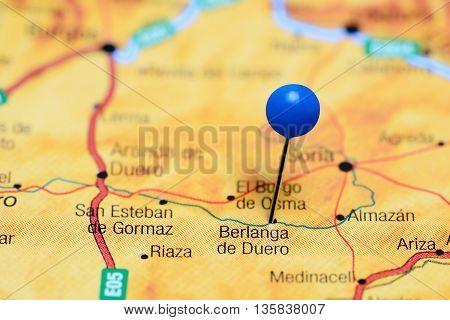 Berlanga de Duero pinned on a map of Spain