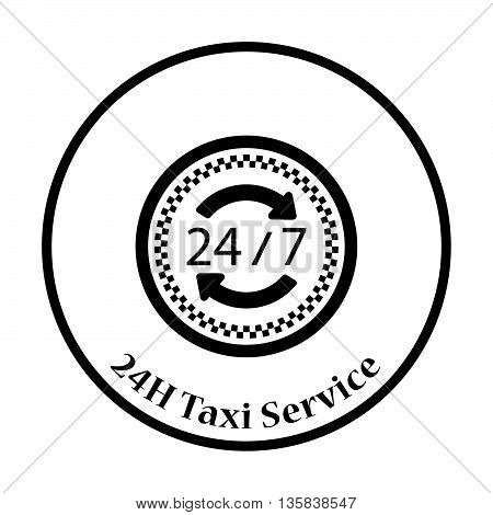 24 Hour Taxi Service Icon