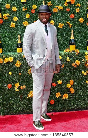 JERSEY CITY, NJ - MAY 30: Rapper/actor Curtis Jackson, aka 50 Cent, attends the 8th Annual Veuve Clicquot Polo Classic at Liberty State Park on May 30, 2015 in Jersey  City, New Jersey.