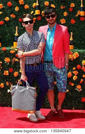 JERSEY CITY, NJ - MAY 30: Designer Christian Siriano (L) and Brad Walsh attend the 8th Annual Veuve Clicquot Polo Classic at Liberty State Park on May 30, 2015 in Jersey  City, New Jersey.