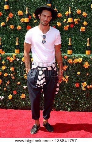 JERSEY CITY, NJ - MAY 30: Model Tobias Sorensen attends the 8th Annual Veuve Clicquot Polo Classic at Liberty State Park on May 30, 2015 in Jersey  City, New Jersey.