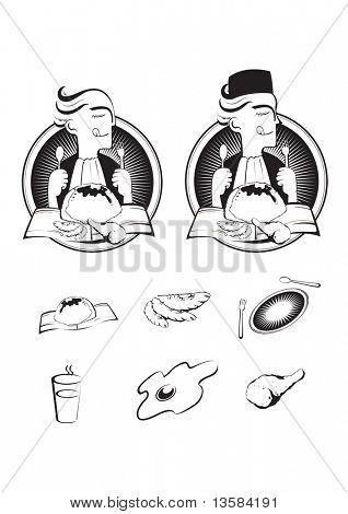 Asian food - nasi lemak, isolated on white background