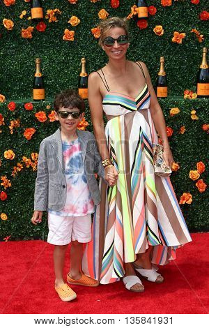 JERSEY CITY, NJ - MAY 30: Interior designer Michelle Smith (R) and William Smith attend the 8th Annual Veuve Clicquot Polo Classic at Liberty State Park on May 30, 2015 in Jersey  City, New Jersey.
