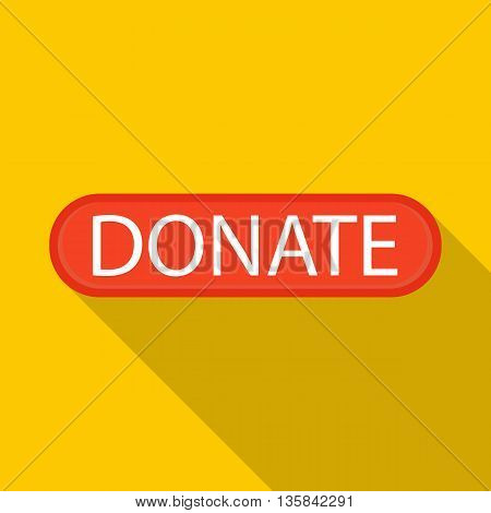 Donate icon in flat style with long shadow. Financial assistance to people symbol