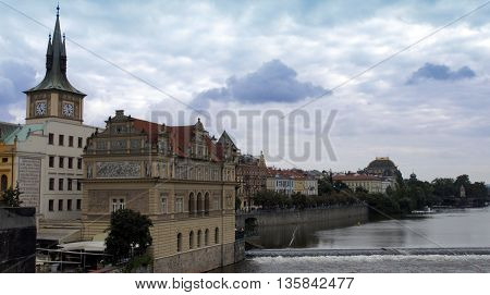 Moldau River In Prague