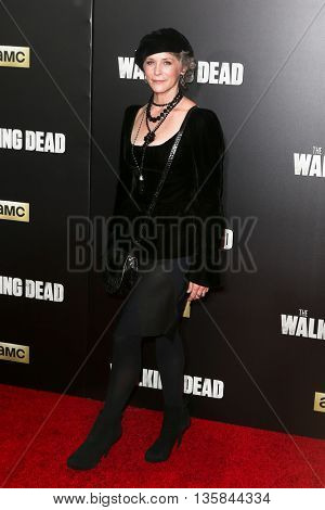 NEW YORK-OCT 9: Actress Melissa McBride attends AMC's 'The Walking Dead' season six premiere at Madison Square Garden on October 9, 2015 in New York City.