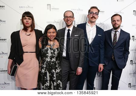 NEW YORK, NY - MAY 18: Representatives from Tumblr attend the 19th Annual Webby Awards at Cipriani Wall Street on May 18, 2015 in New York City.
