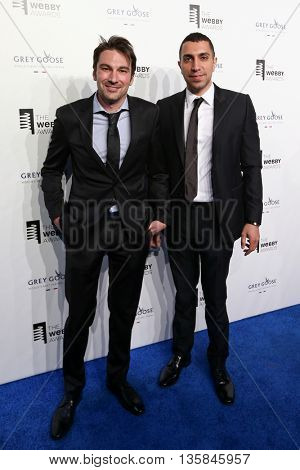 NEW YORK, NY - MAY 18: Tinder co-founders Jonathan Badeen and Sean Rad attend the 19th Annual Webby Awards at Cipriani Wall Street on May 18, 2015 in New York City.