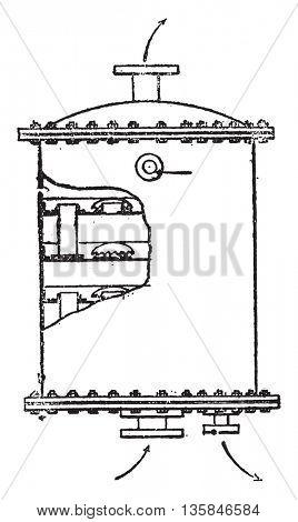 Saturator, vintage engraved illustration. Industrial encyclopedia E.-O. Lami - 1875.