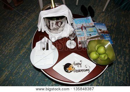 Surpresa feita pelo hotel no aniversário de casamento