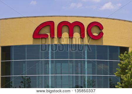 Indianapolis - Circa June 2016: AMC Movie Theater Location. AMC Theaters is an American Movie Theater Chain II