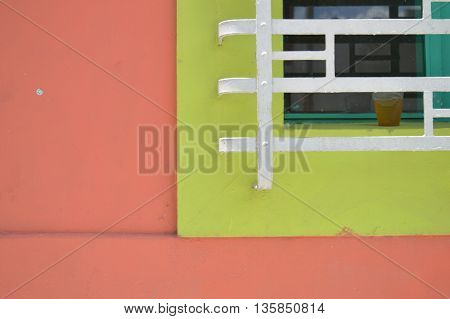Contrast of a house in photography cityscape