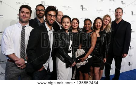NEW YORK, NY - MAY 18: Representatives from Night Agency attend the 19th Annual Webby Awards at Cipriani Wall Street on May 18, 2015 in New York City.