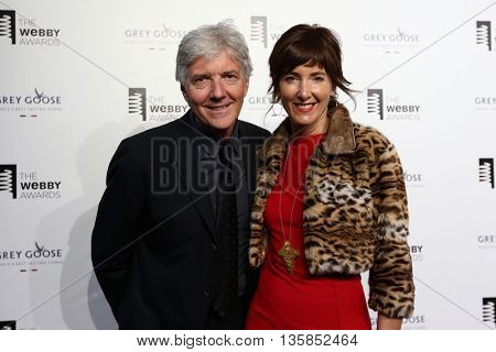 NEW YORK, NY - MAY 18: Wired Ventures co-founders Louis Rossetto (L) and Jane Metcalfe attend the 19th Annual Webby Awards at Cipriani Wall Street on May 18, 2015 in New York City.