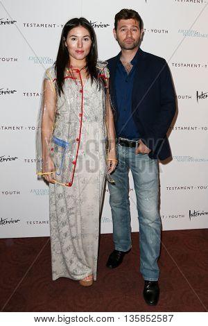 NEW YORK, NY-JUNE 2: Katrina Eugenia (L) and John Buffalo Mailer attend the