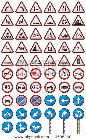 Assorted traffic signs.