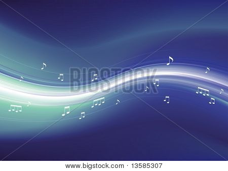 Abstract vector musical background.