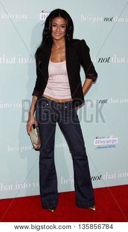 Emmanulle Chriqui at the World premiere of 'He's Just Not That Into You' held at the Grauman's Chinese Theater in Hollywood, USA on February 2, 2009.