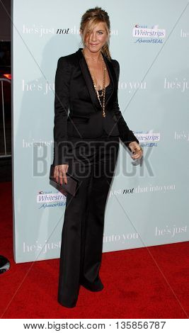 Jennifer Aniston at the World premiere of 'He's Just Not That Into You' held at the Grauman's Chinese Theater in Hollywood, USA on February 2, 2009.