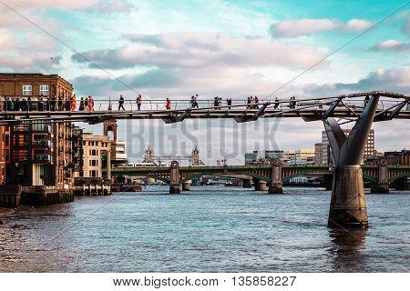 Millennium Bridge In London, England