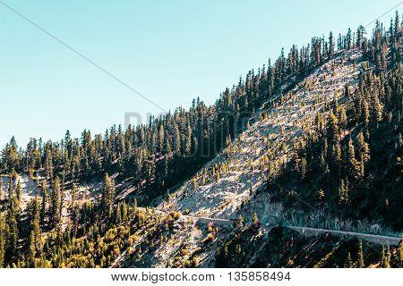 Mountain Near Emerald Bay And Lake Tahoe