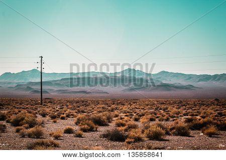 Mojave Desert Near Route 66 In California
