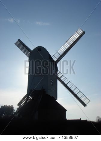 Backview Of A Windmill