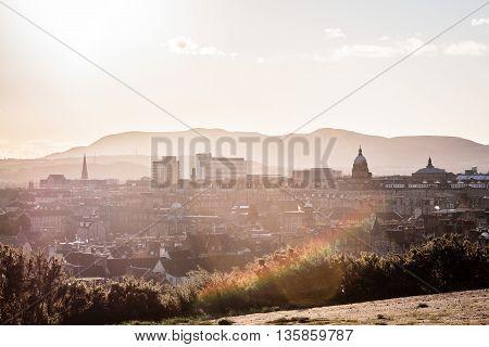 Photo of Buildings and houses of Edinburgh Scotland
