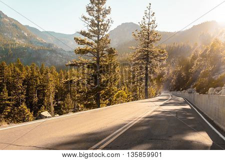 Road Near Emerald Bay And Lake Tahoe