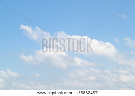 clouds in the blue sky,The vast blue sky and Clouds white fluffy