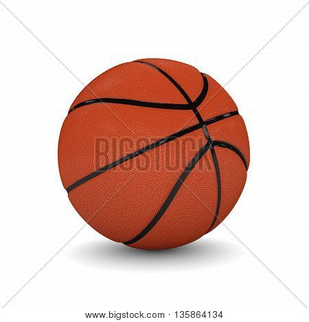 3d rendered basketball isolated on white background