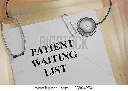 Patient Waiting List Medical Concept