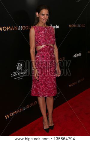 NEW YORK-MAR 30: Actress Katie Holmes attends the
