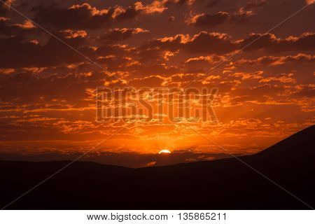 Mountain Sunrise. a new day. Sunrise with dramatic clouds.