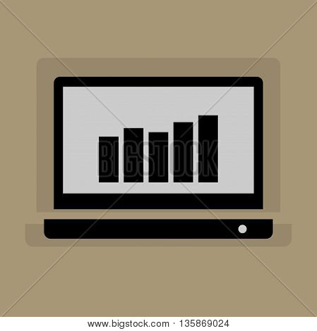 Abstract Laptop icon or sign, vector illustration