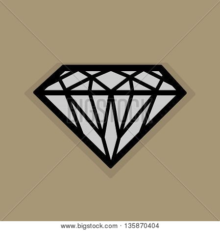 Abstract Diamond icon or sign, vector illustration