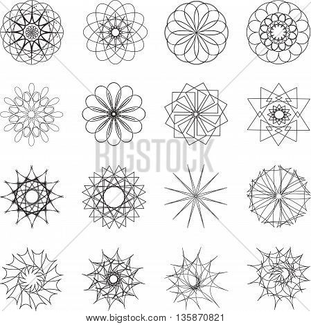 set of fractals and elements of rotation and torsion